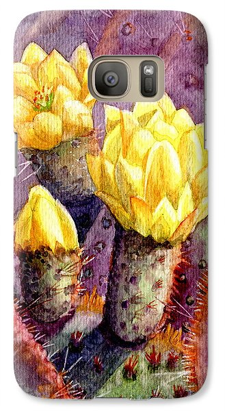 Galaxy Case featuring the painting Santa Rita Prickly Pear Cactus by Marilyn Smith