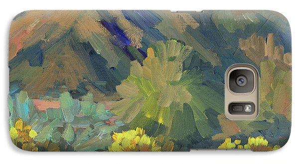 Galaxy Case featuring the painting Santa Rosa Mountains And Brittle Bush by Diane McClary