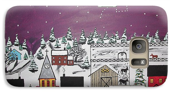 Galaxy Case featuring the painting Santa Under The Little Dipper by Jeffrey Koss