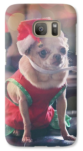 Galaxy Case featuring the photograph Santa's Little Helper by Laurie Search