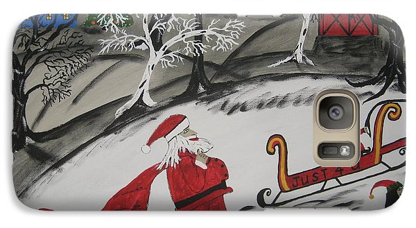 Galaxy Case featuring the painting Santa's Work Is Done  by Jeffrey Koss