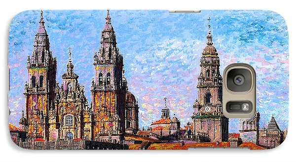 Galaxy Case featuring the painting Santiago De Compostela, Cathedral, Spain by Jane Small