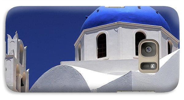 Galaxy Case featuring the photograph Santorini Greece Architectual Line 2 by Bob Christopher