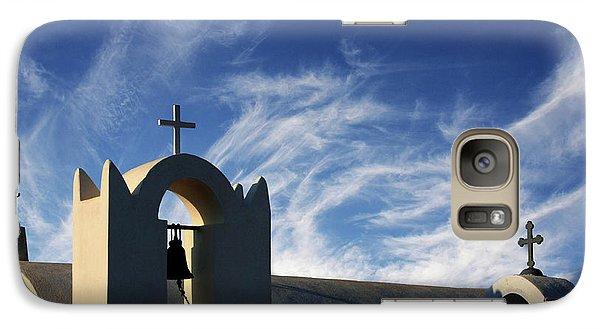 Galaxy Case featuring the photograph Santorini Greece Architectual Line 3 by Bob Christopher