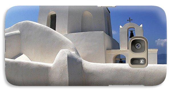 Galaxy Case featuring the photograph Santorini Greece Architectual Line 4 by Bob Christopher