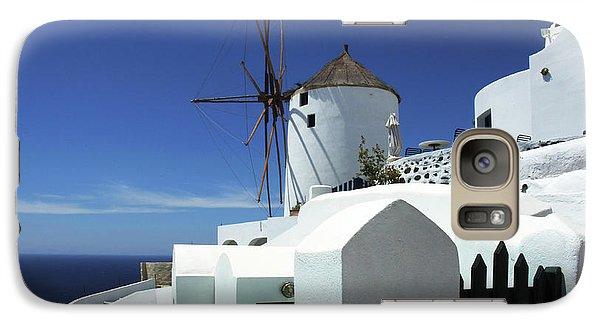 Galaxy Case featuring the photograph Santorini Greece Architectual Line 5 by Bob Christopher