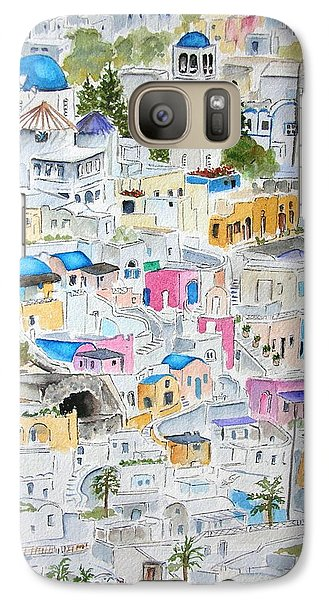 Galaxy Case featuring the painting Santorini by Mary Kay Holladay