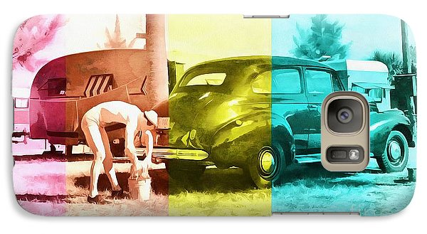 Galaxy Case featuring the painting Sarasota Series Wash The Car by Edward Fielding