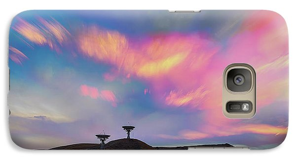 Galaxy Case featuring the photograph Satellite Dishes Quiet Communications To The Skies by James BO Insogna