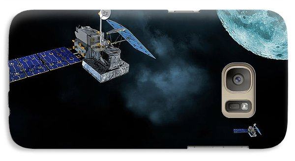 Galaxy Case featuring the photograph Satellites In Orbit Around The Moon by Christian Lagereek