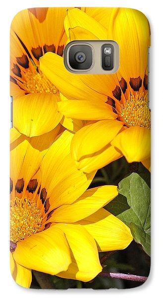 Galaxy Case featuring the photograph Satin Yellow Florals by E Faithe Lester
