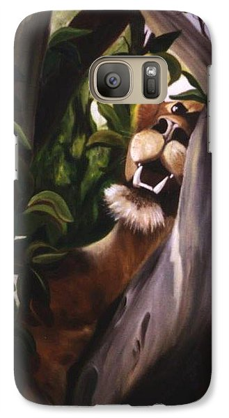 Galaxy Case featuring the painting Satisfied by Renate Nadi Wesley