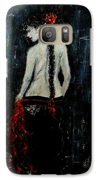Galaxy Case featuring the painting Saturday Evening  by Cristina Mihailescu