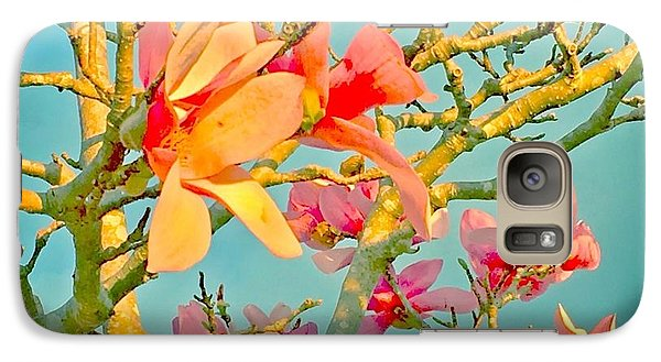 Galaxy Case featuring the photograph Saucer Magnolia by Angela Annas