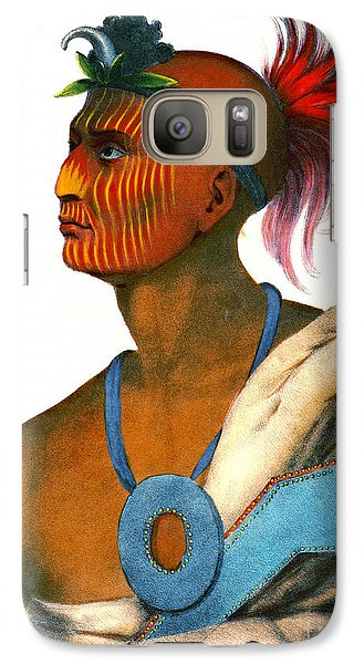 Galaxy Case featuring the photograph Sauk Warrior 1842 by Padre Art