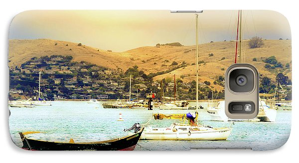 Galaxy Case featuring the photograph Sausalito Sailboats by Laura DAddona