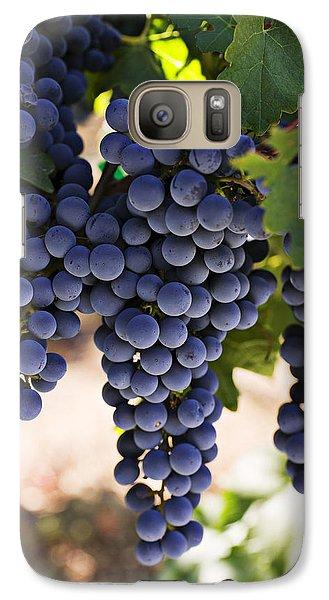 Wine Galaxy S7 Case - Sauvignon Grapes by Garry Gay