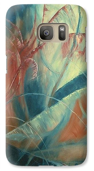 Galaxy Case featuring the painting Savannah by Renate Nadi Wesley