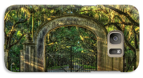 Galaxy Case featuring the photograph Savannah's Wormsloe Plantation Gate Live Oak Alley Art by Reid Callaway