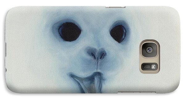 Galaxy Case featuring the painting Save The Baby Seals by Annemeet Hasidi- van der Leij