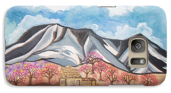 Galaxy Case featuring the painting Sawtooth Mountain Farm by Connie Valasco