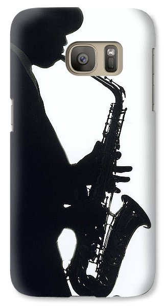 Saxophone Galaxy S7 Case - Sax 2 by Tony Cordoza