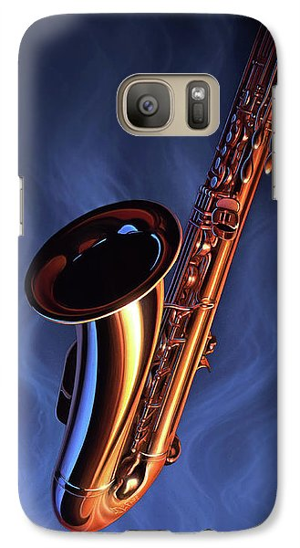 Saxophone Galaxy S7 Case - Sax Appeal by Jerry LoFaro