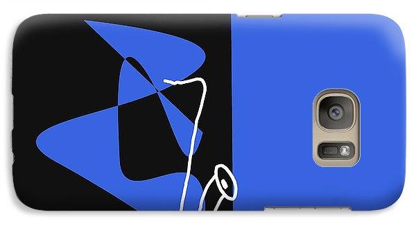 Galaxy Case featuring the digital art Saxophone In Blue by Jazz DaBri