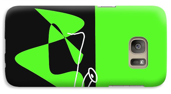 Galaxy Case featuring the digital art Saxophone In Green by Jazz DaBri