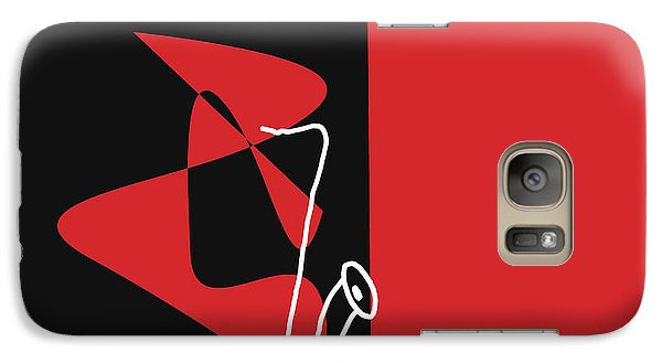 Galaxy Case featuring the digital art Saxophone In Red by Jazz DaBri