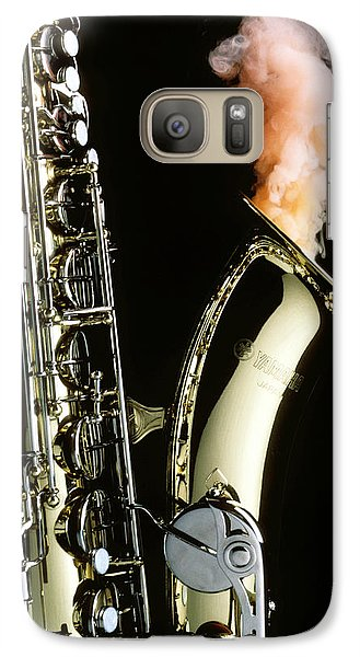 Saxophone Galaxy S7 Case - Saxophone With Smoke by Garry Gay