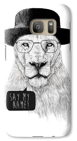 Lion Galaxy S7 Case - Say My Name by Balazs Solti