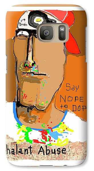 Galaxy Case featuring the photograph Say Nope To Dope by Joe Jake Pratt