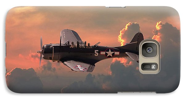 Galaxy Case featuring the digital art  Sbd - Dauntless by Pat Speirs