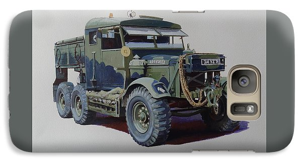 Galaxy Case featuring the painting Scammell Pioneer Wrecker. by Mike  Jeffries