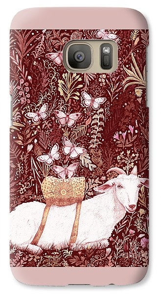 Galaxy Case featuring the digital art Scapegoat Healing Tapestry Print by Lise Winne