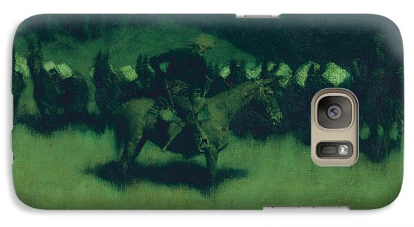 Scare In A Pack Train Galaxy S7 Case by Frederic Remington