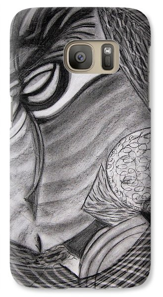 Galaxy Case featuring the drawing Scarf by Patricia Cleasby