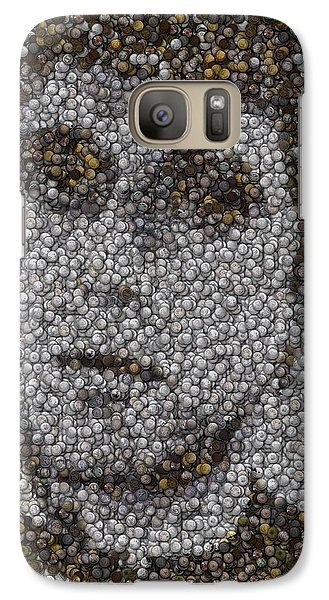 Galaxy Case featuring the mixed media Scarface Coins Mosaic by Paul Van Scott