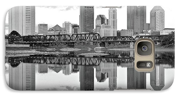 Galaxy Case featuring the photograph Scarlet And Columbus Gray by Frozen in Time Fine Art Photography