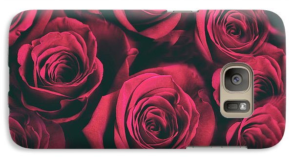 Galaxy S7 Case featuring the photograph Scarlet Roses by Jessica Jenney