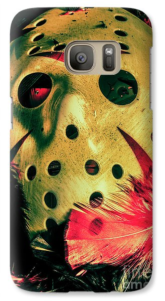 Hockey Galaxy S7 Case - Scene From A Fright Night Slasher Flick by Jorgo Photography - Wall Art Gallery