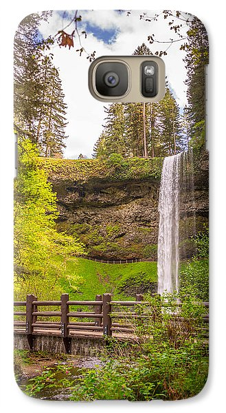 Galaxy Case featuring the photograph Scenic Waterfalls by Jerry Cahill