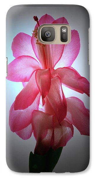 Galaxy Case featuring the photograph Schlumbergera Portrait. by Terence Davis