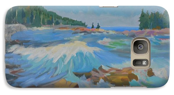 Galaxy Case featuring the painting Schoodic Inlet by Francine Frank