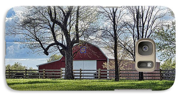 Galaxy Case featuring the photograph Schooler Road Barn by Cricket Hackmann