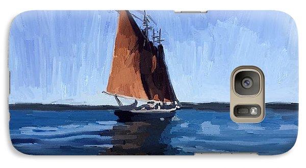 Schooner Roseway In Gloucester Harbor Galaxy Case by Melissa Abbott