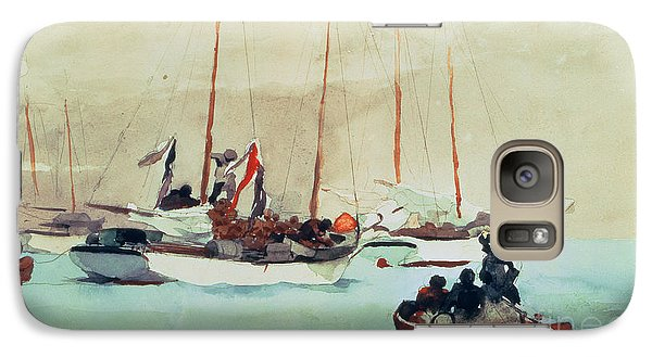 Boat Galaxy S7 Case - Schooners At Anchor In Key West by Winslow Homer