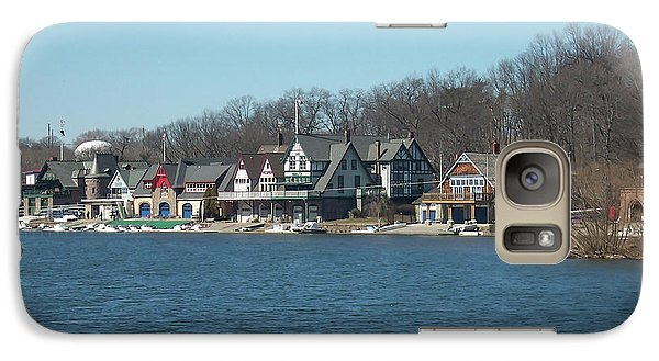 Galaxy Case featuring the photograph Schuylkill River - Boathouse Row In Philadelphia by Bill Cannon