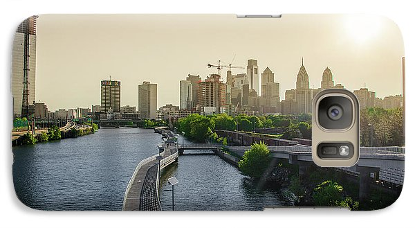 Galaxy Case featuring the photograph Schuylkill River Walk At Sunrise by Bill Cannon